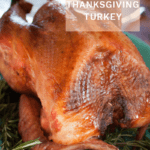 roasted brined Thanksgiving turkey
