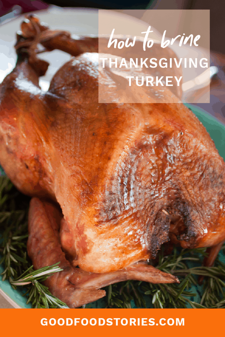 Brined Thanksgiving turkey keeps the meat uniformly moist and prevents overcooking, as well as infuses the entire bird with flavor. #thanksgiving #turkey #brine #roasted #howto