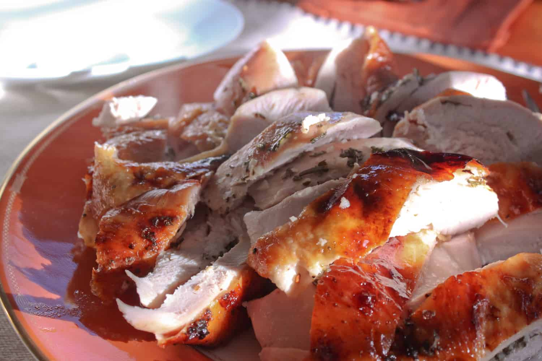 roasted brined Thanksgiving turkey