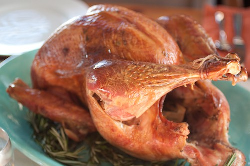 brined and roasted turkey for Thanksgiving, via www.www.goodfoodstories.com