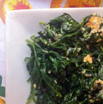 broiled spinach with parmesan