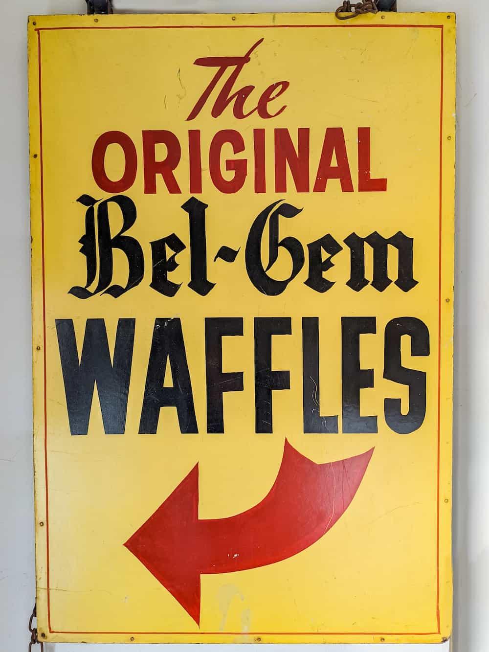world's fair bel-gem waffles sign