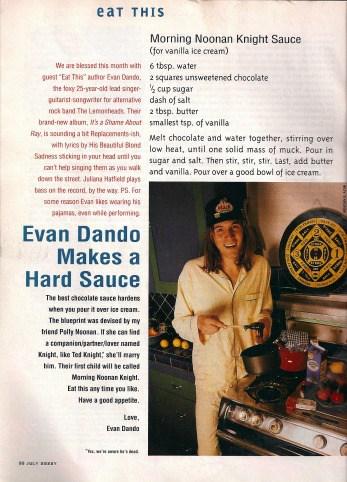 Evan Dando, Sassy Magazine
