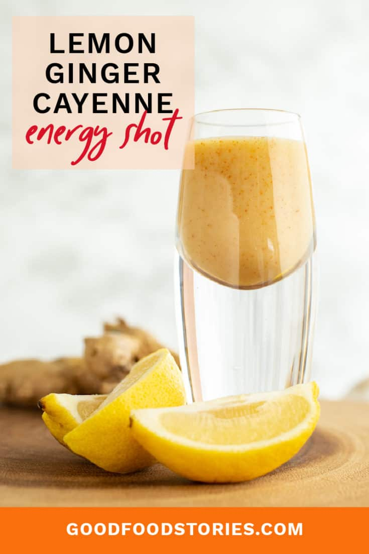 The Dragon's Breath Shot is a lemon ginger cayenne elixir that gives you a burst of energy and warmth. Make it yourself at home! #lemongingercayenne #energyshot