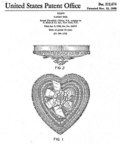a. klein heart-shaped box patent