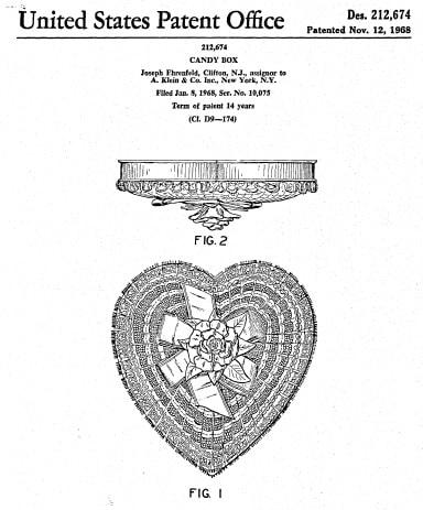 a. klein heart-shaped box patent