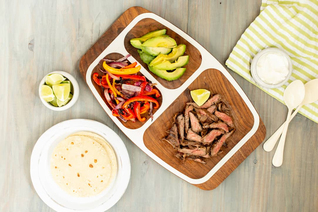 skirt steak fajitas, via www.goodfoodstories.com