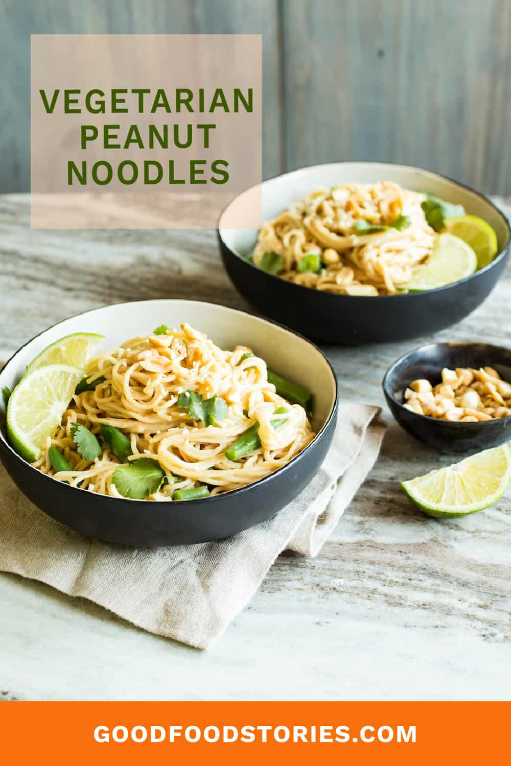 peanut noodles with green beans and lime