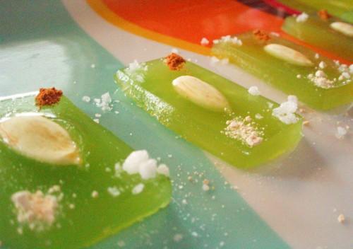 Alinea green almond dish