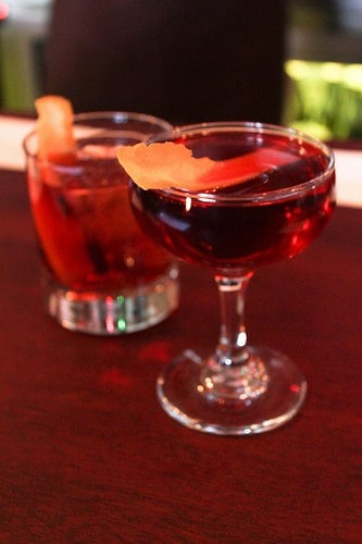 negroni and boulevardier cocktails