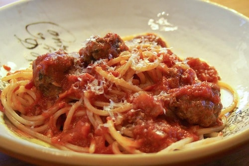 spaghetti and meatballs, via www.www.goodfoodstories.com