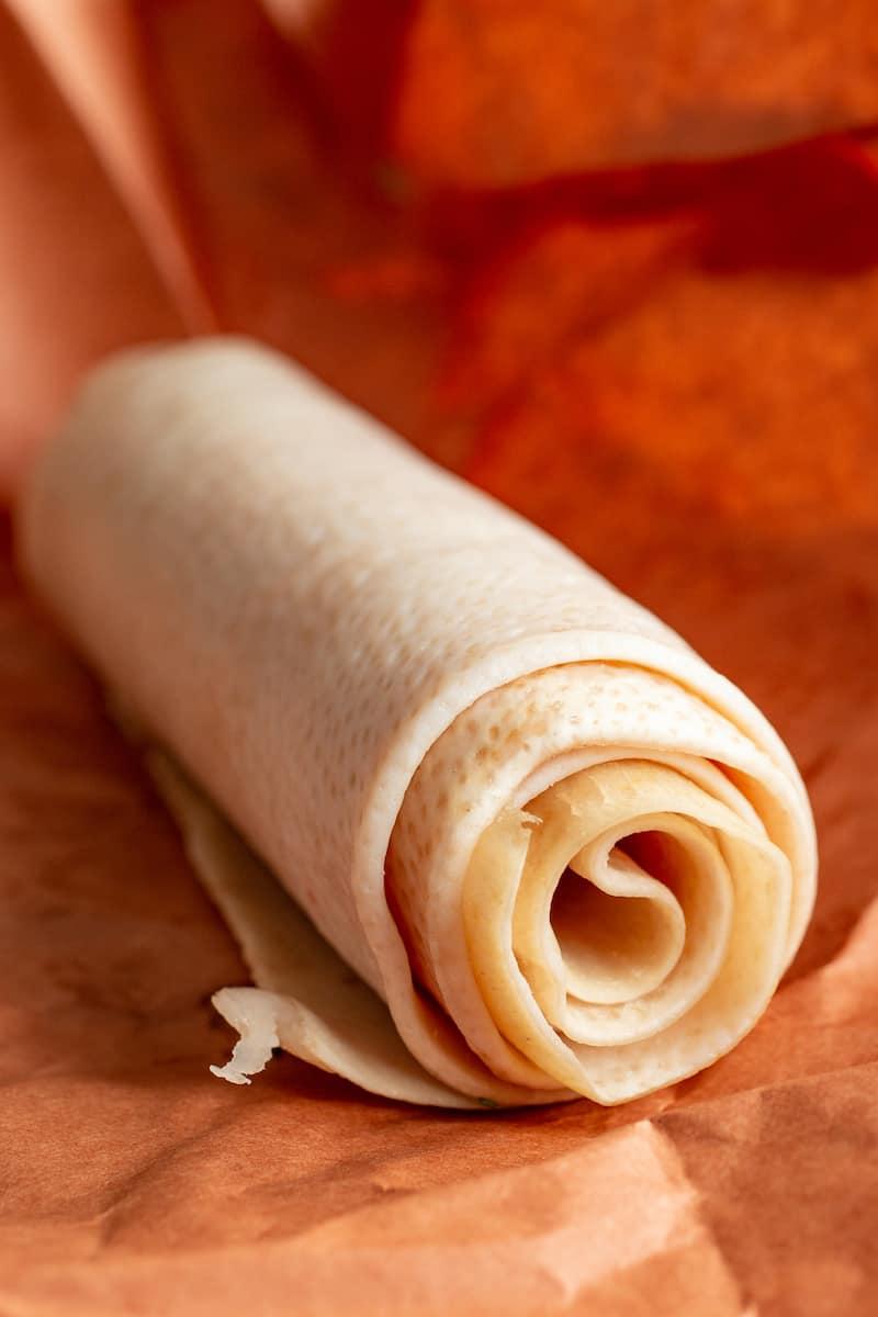 cotenne, or rolled pork skin braciole