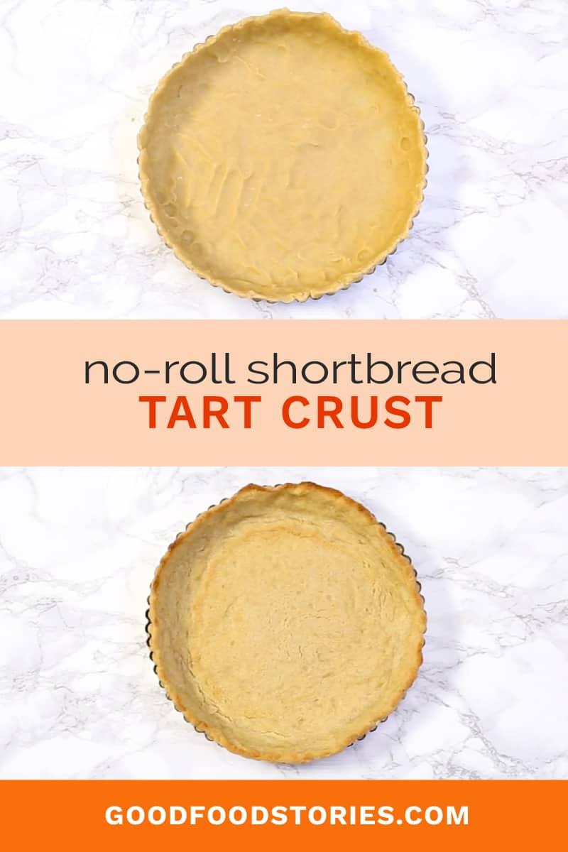 no-roll tart crust