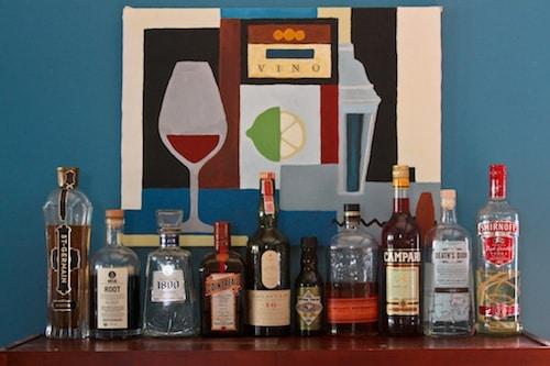 a well-stocked bar, via goodfoodstories.com
