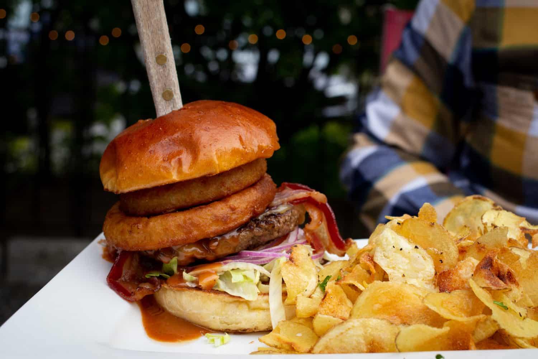 McKay's Public House Bronco burger in Bar Harbor