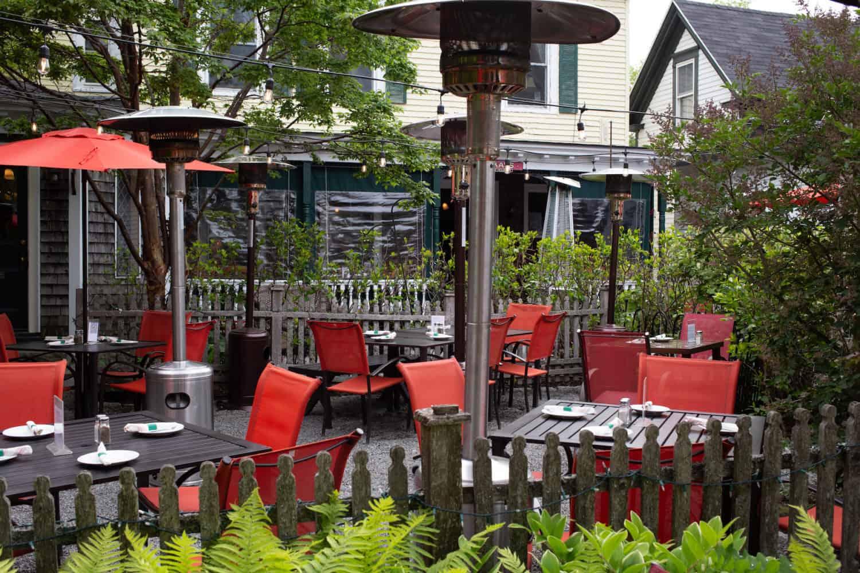 McKay's Public House patio in Bar Harbor