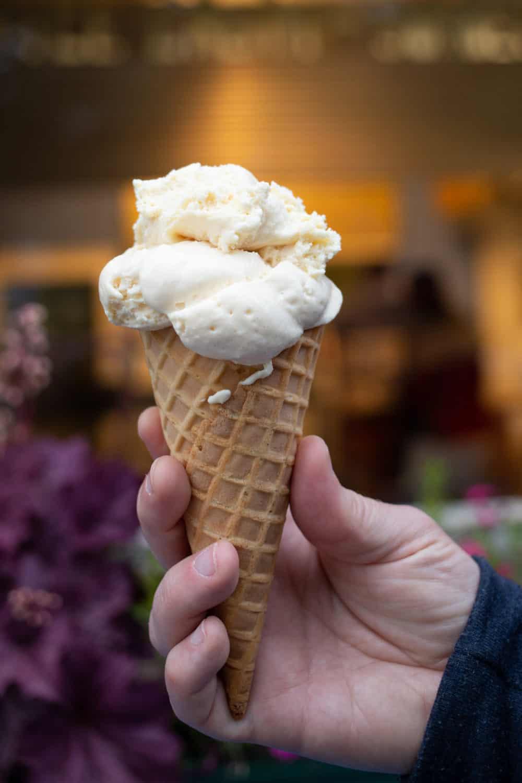 Mt Desert Ice Cream cone in Bar Harbor