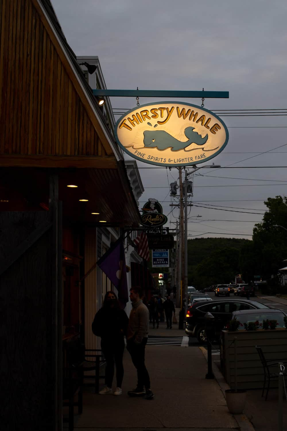Thirsty Whale tavern in Bar Harbor, Maine