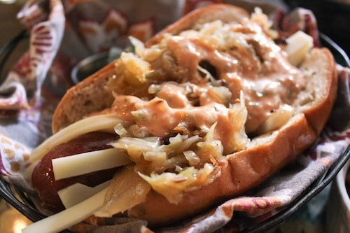 grange hall reuben hot dog
