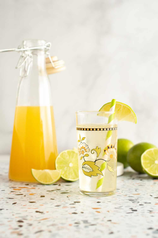 lime sea salt soda syrup and cocktail