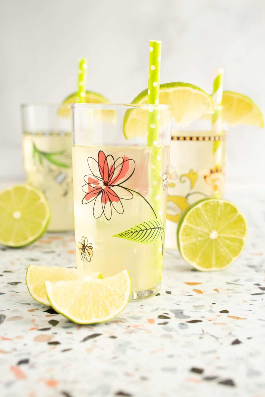 lime sea salt soda cocktails