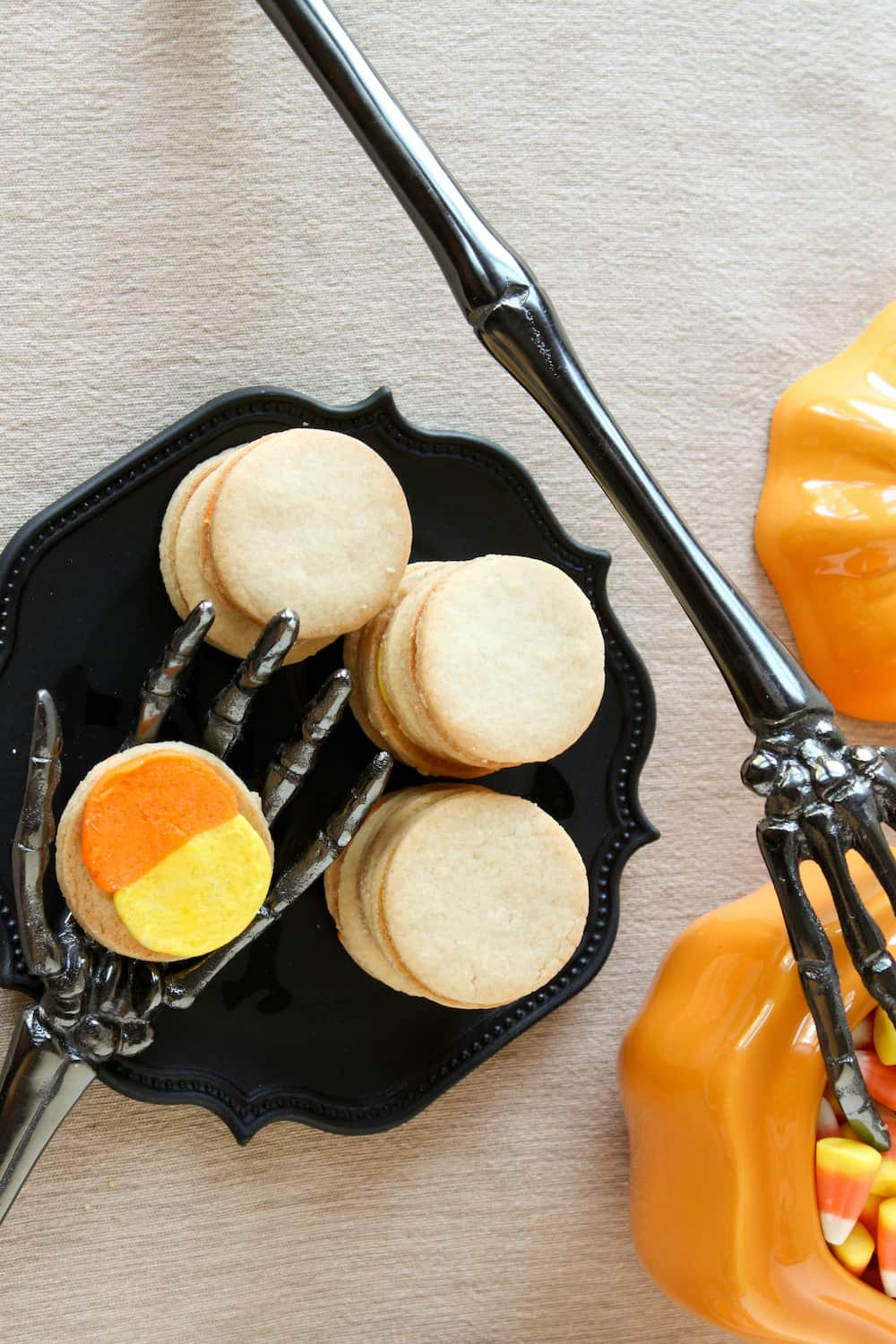 homemade candy corn oreos