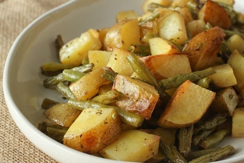 bourbon duck fat potatoes and green beans