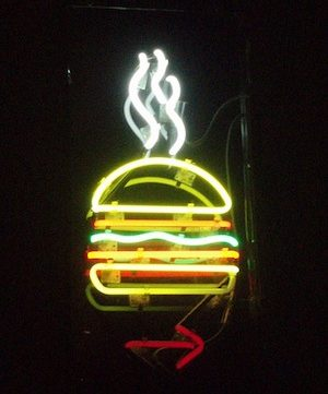 burger joint neon sign