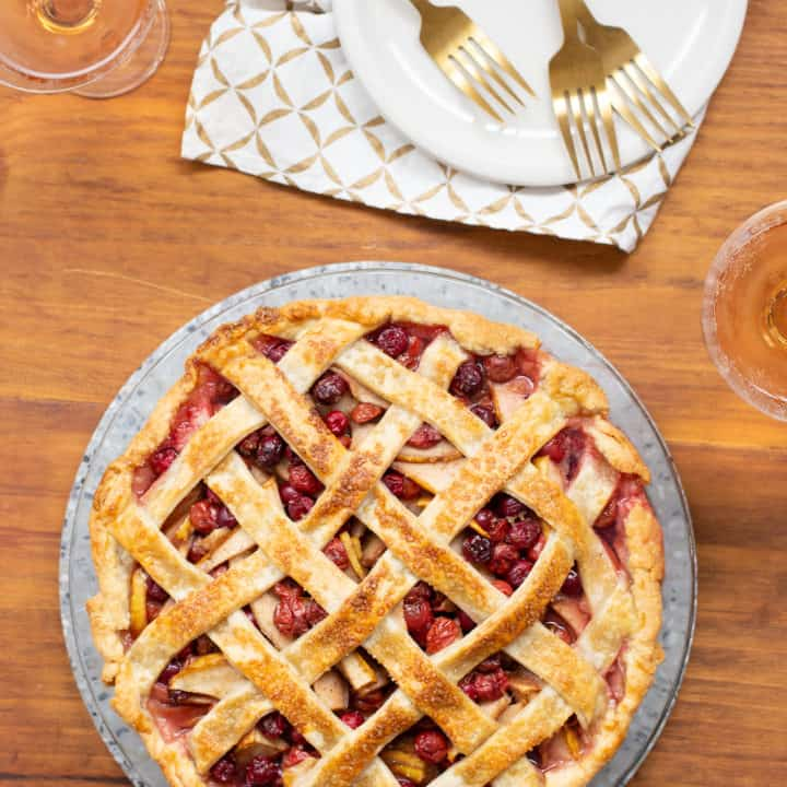 cherry cranberry pear pie