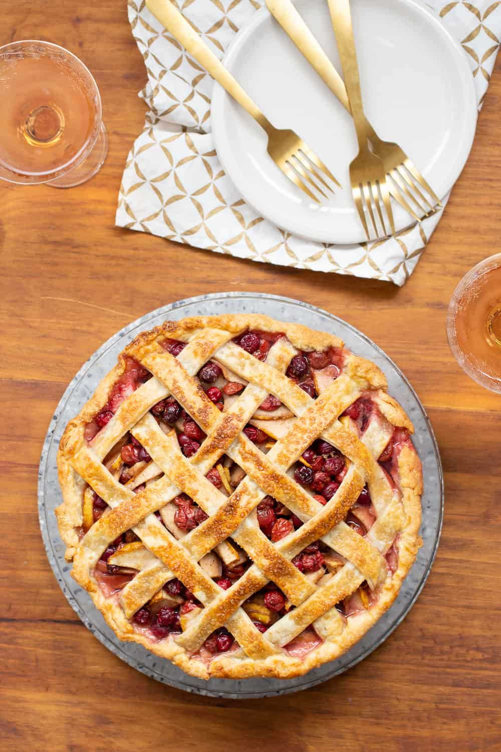Cherry Cranberry Pear Pie: Summer and Fall in One Crust