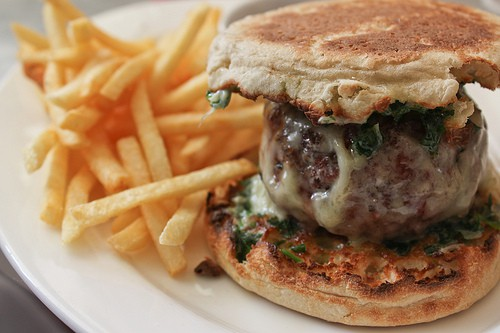 burger at prune restaurant