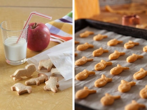 homemade animal crackers and goldfish crackers