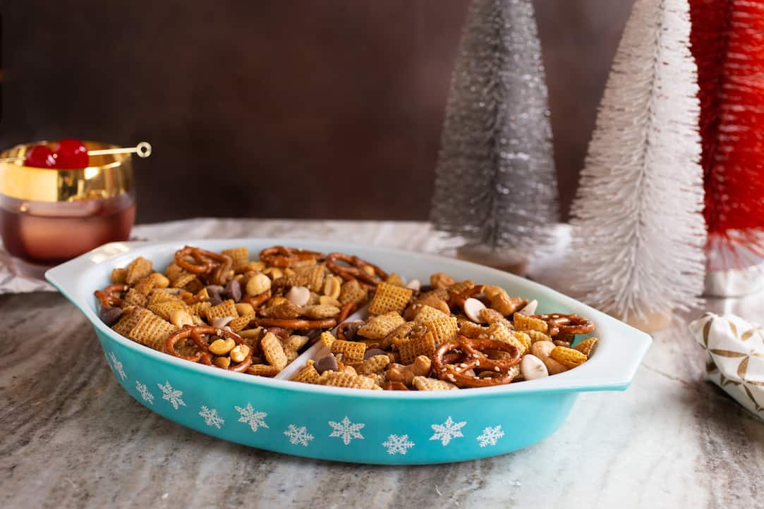 Holiday Chex Mix, via goodfoodstories.com