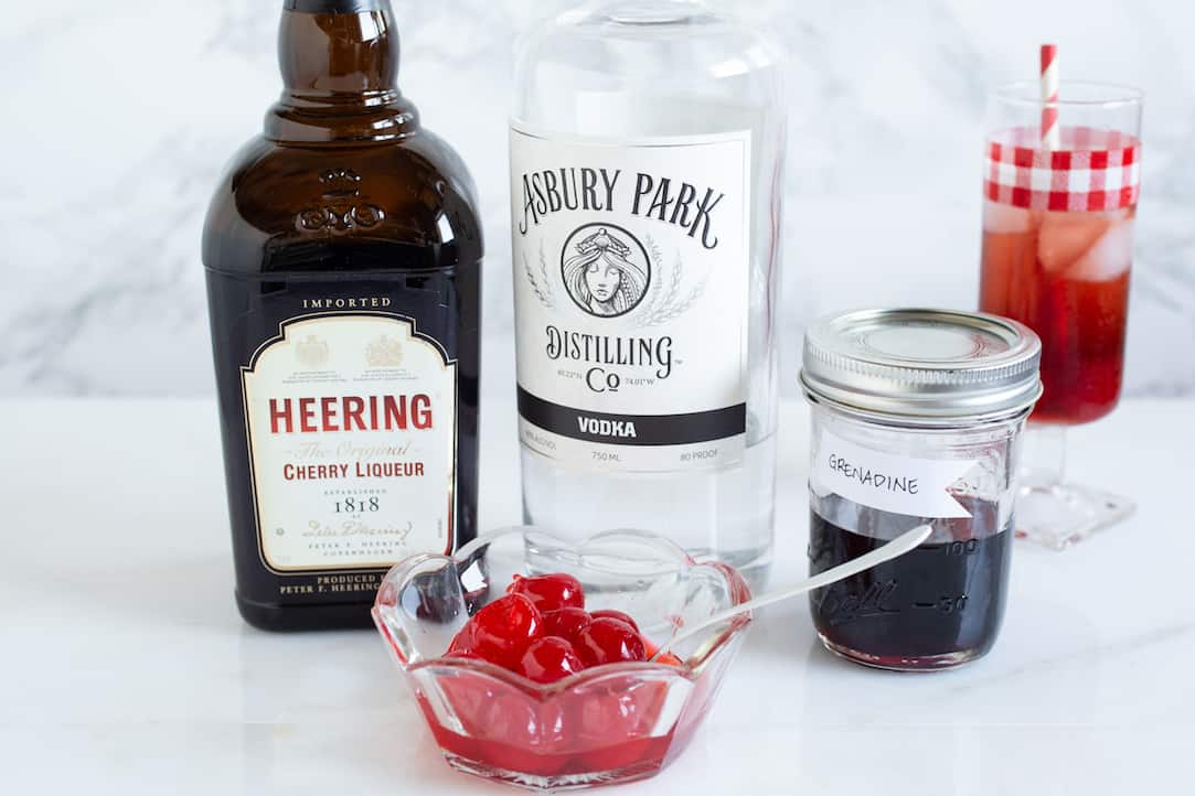 ingredients for a Dirty Shirley cocktail