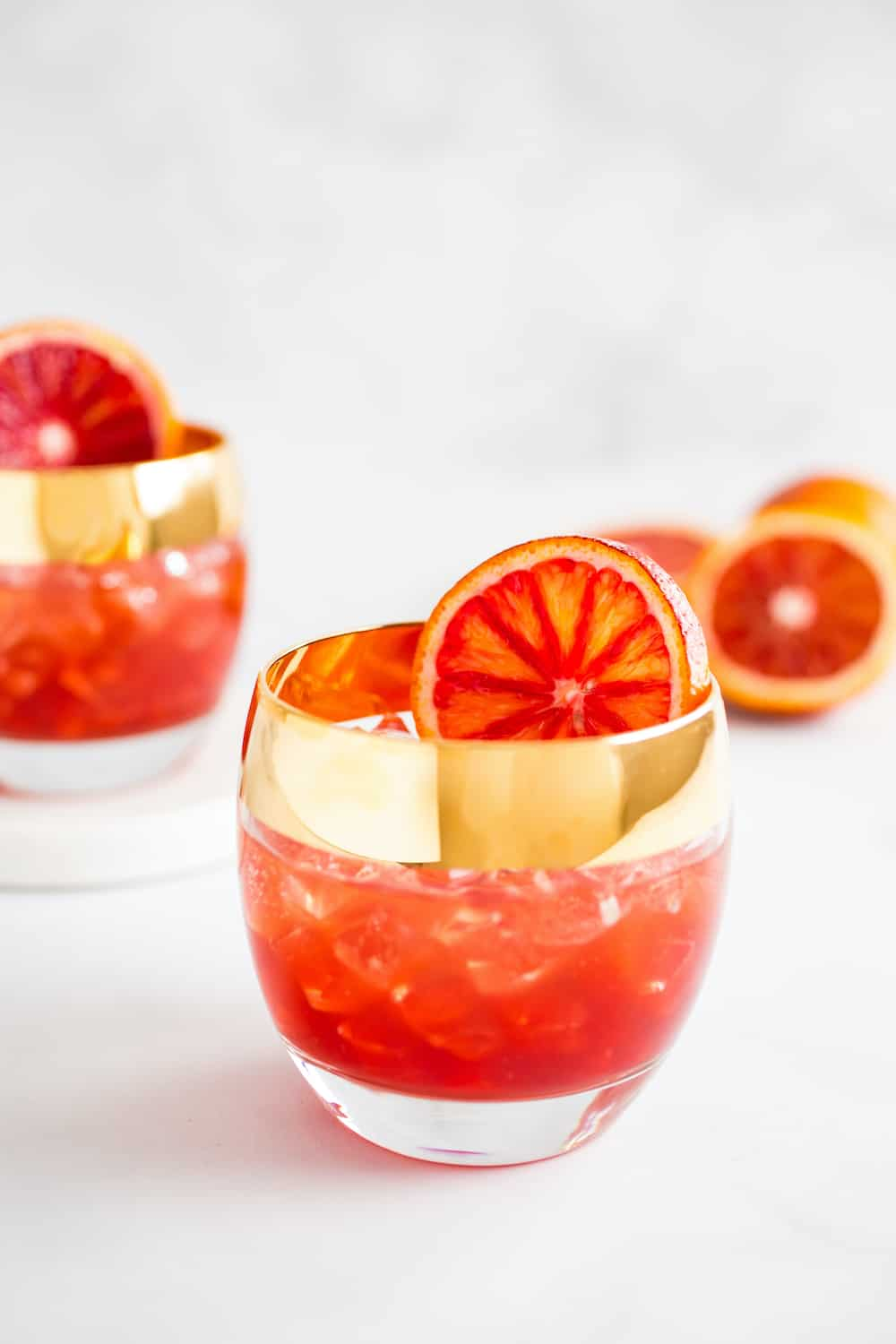 creamsicle cocktails with blood oranges