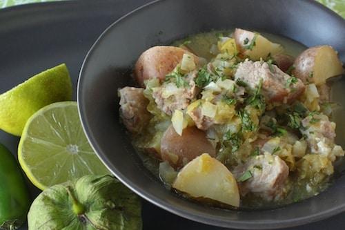 one-skillet chile verde stew