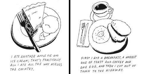 Paul Rogers Kerouac drawings