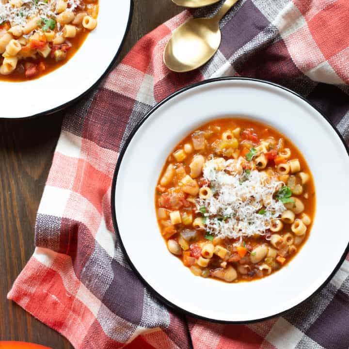 This one-pot pasta fagioli recipe with tender beans and ditalini comes together in 1 hour—but tastes like it's been simmering for much longer.