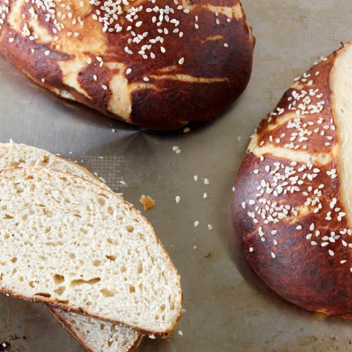 Pretzel Bread and Rolls