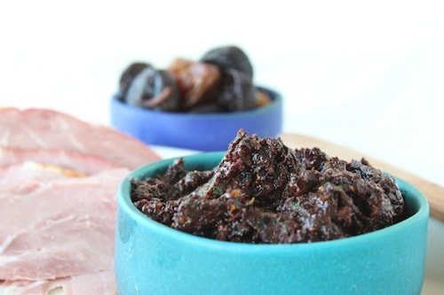 fig, olive, date, mint tapenade
