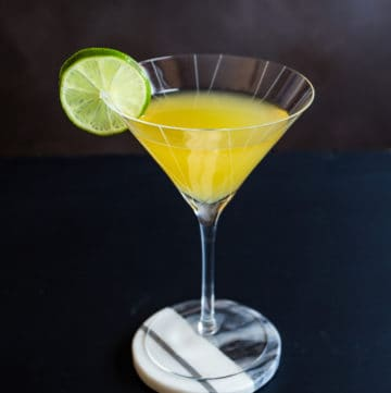 The classic gin gimlet cocktail contains two ingredients: gin and lime cordial. But let's up the ante with homemade cordial and a dash of citrus bitters. #gimlet #gincocktails