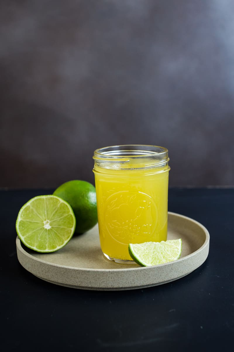 Homemade lime cordial makes the difference between an ok gin gimlet and a truly spectacular one. #limecordial #diycocktails