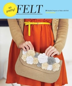 so pretty! felt book cover