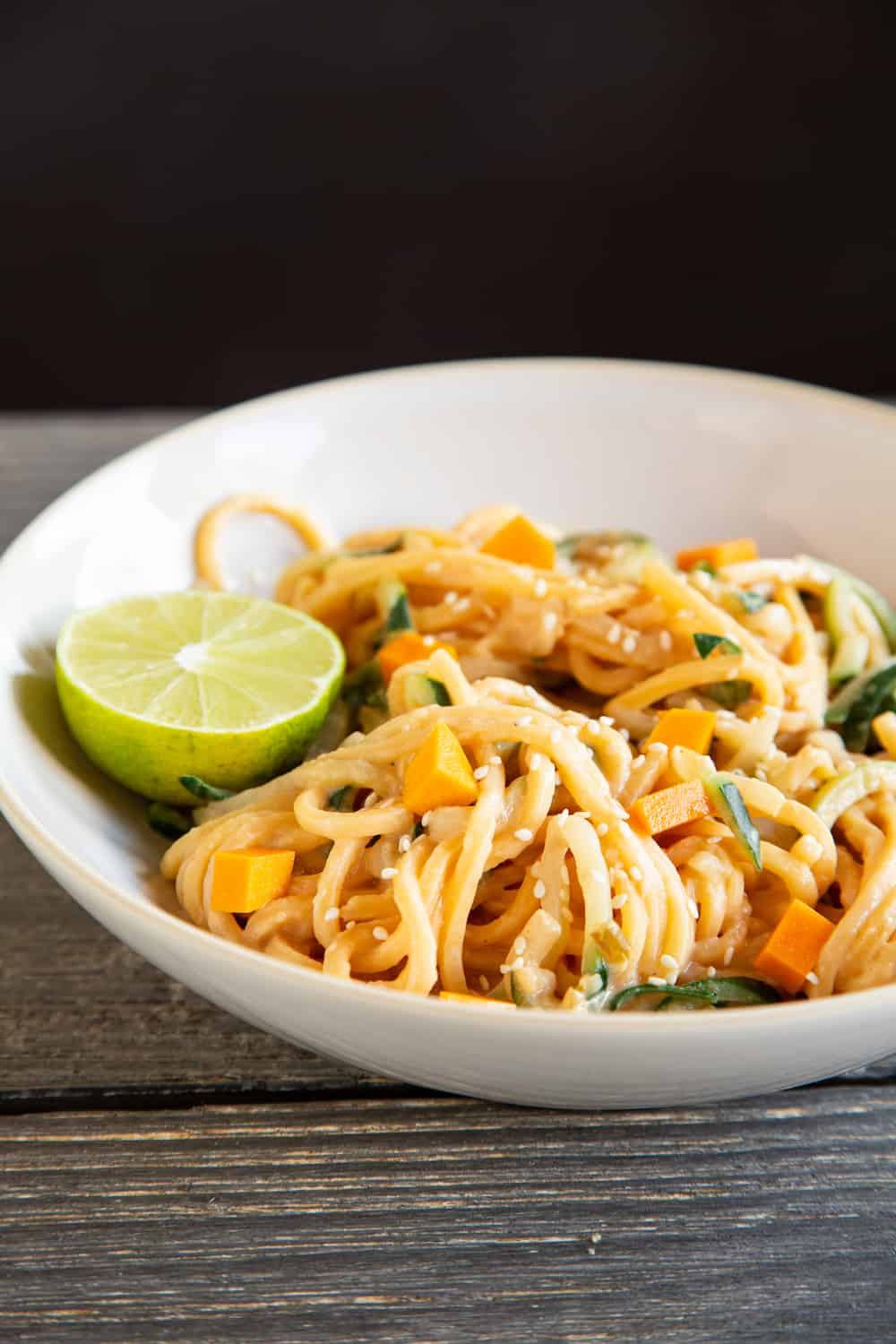 noodles with pickled butternut squash