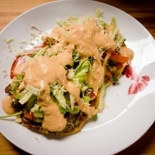 Weetzie Bat's guacamole tostadas, via goodfoodstories.com