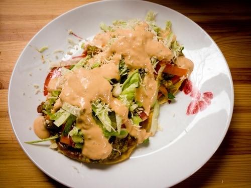 Weetzie Bat's guacamole tostadas, via www.www.goodfoodstories.com