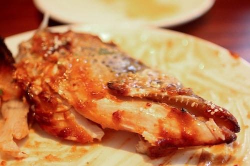 maple-miso salmon head from Chez Sardine, via www.www.goodfoodstories.com