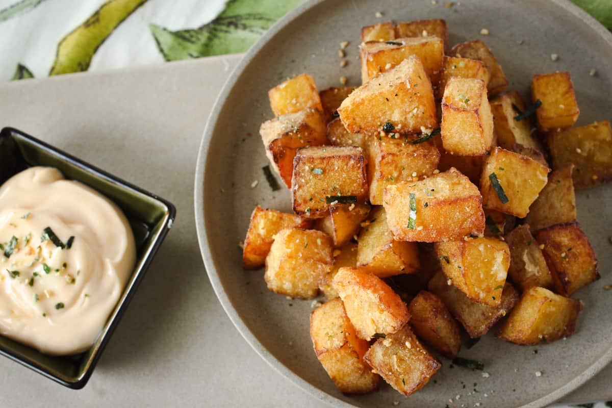 deep fried golden beets