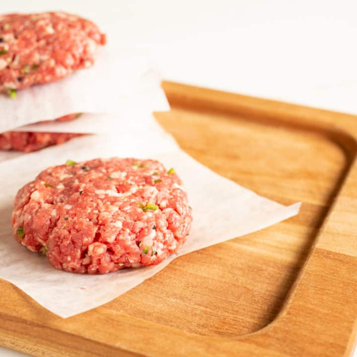 Freshly Ground Jalapeño-Garlic Hamburgers