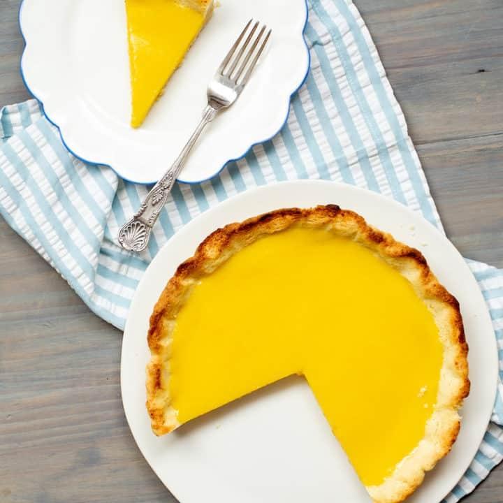 lemon olive oil tart